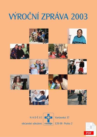 Výroční zpráva 2003